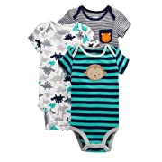 7bc25ca6a Carters Preemie Baby Boy Bodysuits Monkey Stripe, 3pc (Preemie)