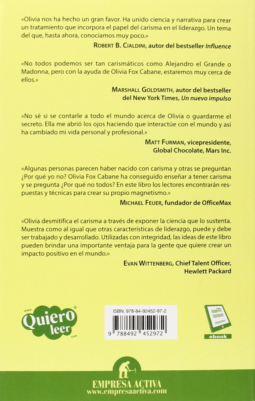 El Mito del Carisma (Gestion del Conocimiento): Amazon.co.uk: Olivia Fox  Cabane: 9788492452972: Books