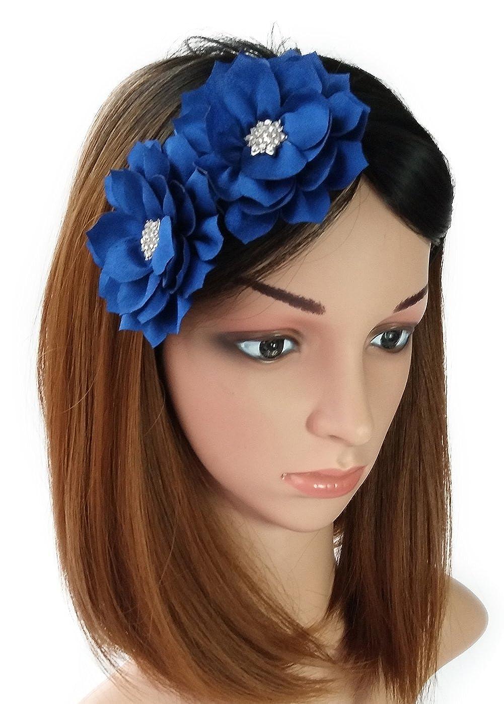 Fascinator Headband Hair Clip Lotus Flower Bridal Wedding Party Cocktail Headwear