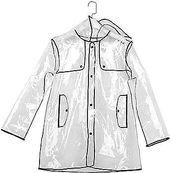 Transparent Clear Womens Girls Rain Coat Ears Festival Camping Raincoat Mac