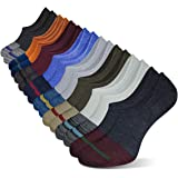 No Show Socks for Men Non Slip Cotton Low Cut Invisible Casual Ankle Socks 8 Pairs Pack