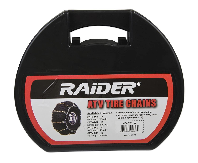 Raider ATV-TC4 56' Length x 16' Width ATV Tire Chain - (Pair)