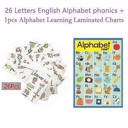 26 tarjetas de alfabeto ABC + 26 alfabetos, juguetes ...