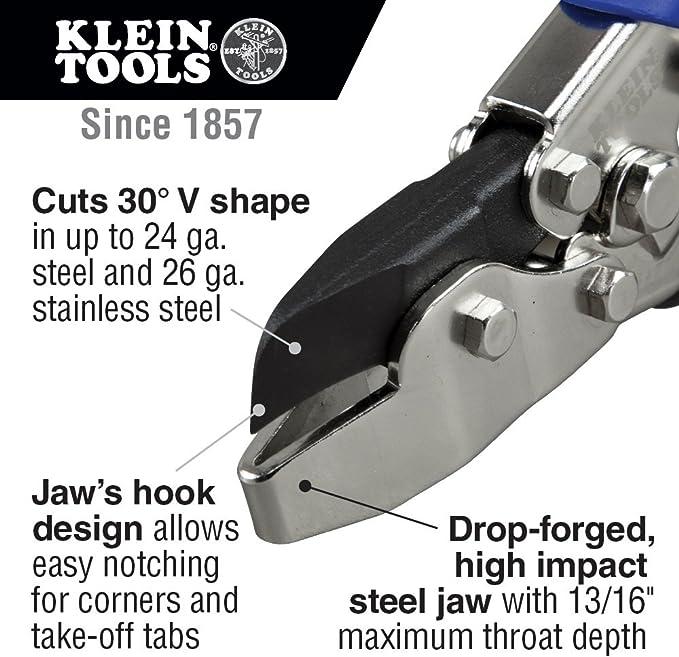 LENOX N2 Hand V-Notcher HVAC Snips22211HNew
