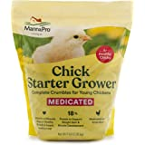 Manna Pro Chick Starter | Medicated Chick feed formulated with Amprolium | Prevents Coccidiosis | Feed Crumbles | 5…
