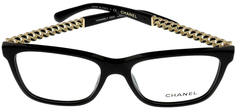 Amazon.com: Chanel Prescripción anteojos Frames Womens Black ...