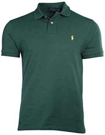 fc6128548 Ralph Lauren Mens Custom-Fit Mesh Polo Shirt Pony Logo at Amazon Men s  Clothing store