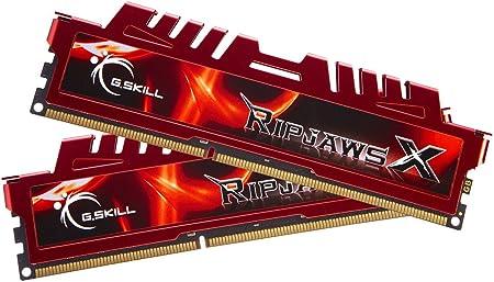 Imagen deG.Skill RipjawsX F3-12800CL9D-8GBXL - Memoria RAM de 8 GB, DDR3 para Intel y AMD (PC12800, 1600 MHz) - 2 x 4 GB