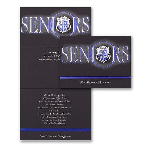 Amazon.com: 1200pk Seniors Blue Crest Announcement ...