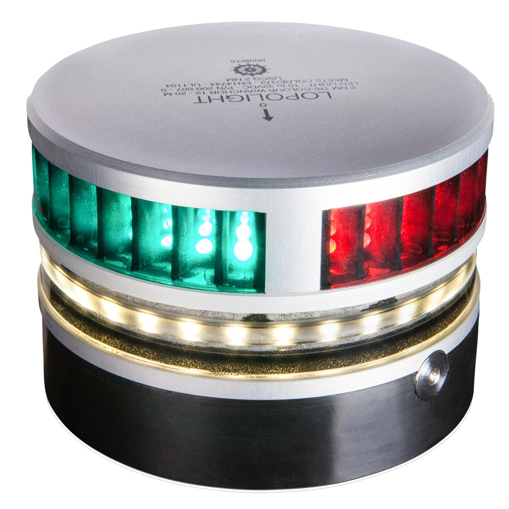 Lopolight Tri-Color Navigation Light w/Anchor Light & Strobe - 2nm. [200-007S]