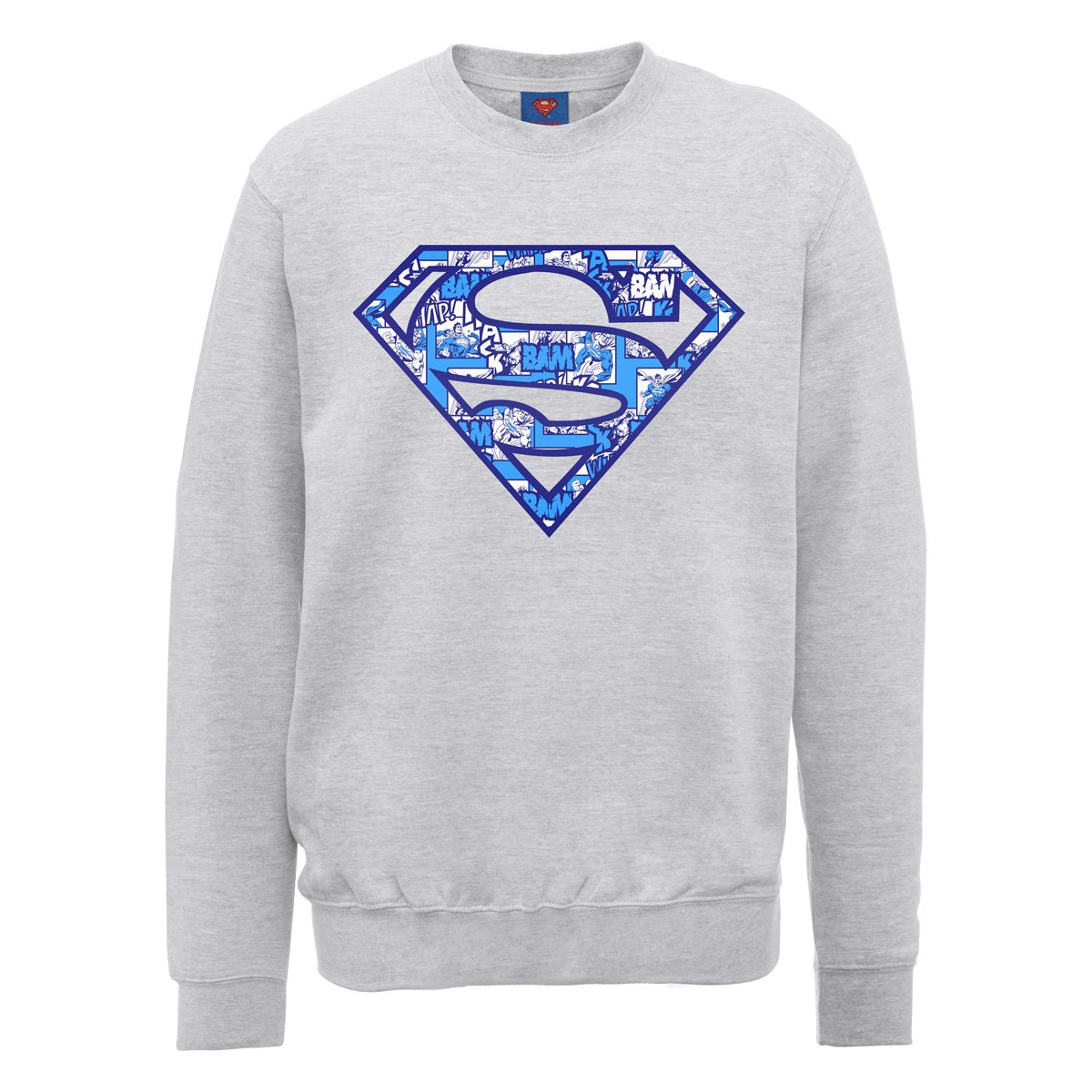 DC Comics Herren, Sweatshirt, DC0000826 Official Superman Comic Logo