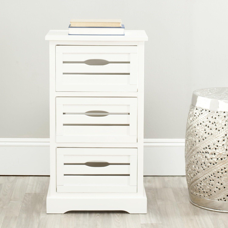 Safavieh American Homes Collection Samara Distressed Cream 3-Drawer Cabinet