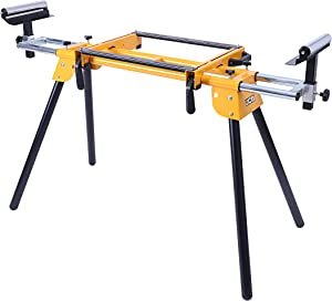 JCB - Miter Saw Stand, Extendable Beam Extension Arms for Extra Support, 3'- 5' Extension, Durable Item Compatible With Other Brands, JCB Tools