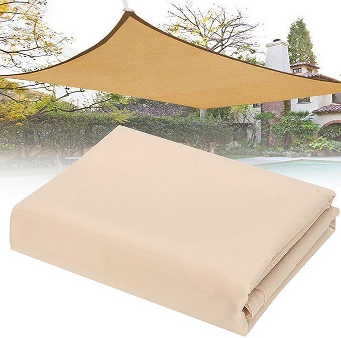 Aissimio Toldo Vela de Sombra Rectangular 2 x 1, 8M Protección Rayos UV, Resistente y Transpirable Toldo para Parasol para Jardín/Patio/Fiesta, Color Arena: Amazon.es: Jardín