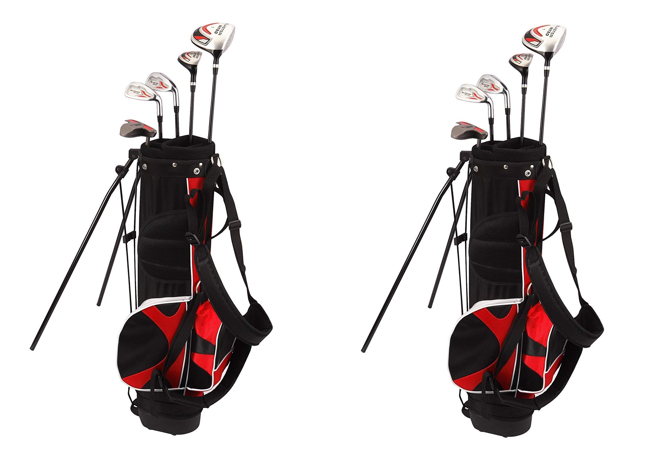 Nitro Kid's Right-Handed 8 Piece Golf Club Set Blaster Kid's Golf Set - 31 Inch Graphite 15-Degree Regular with Bag 9-12 Years (2-Pack) by Nitro