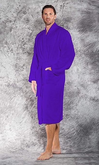 174bc2210c Cloth Fusion Tunica Terry Cotton Unisex Bathrobe for Men and Women - Robin  Blue