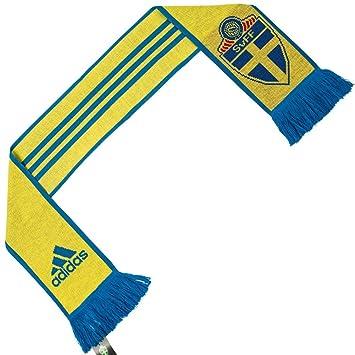 Sweden Swedish football association 3 nbsp stripes scarf Adidas fan scarf  AY4382 73e8a3d3c5728