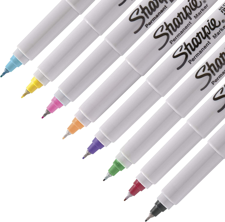 Permanent Marker set Sharpie Fine /& Ultra Fine 28 Pen Box Set Peacock Edition