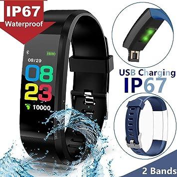 Women Sport Fitness Tracker - 0.96 IPS Waterproof IP67 Smart Watch, Heart Rate Blood Pressure Sleep Monitor, Calorie Step Tracker for Male, Sync ...