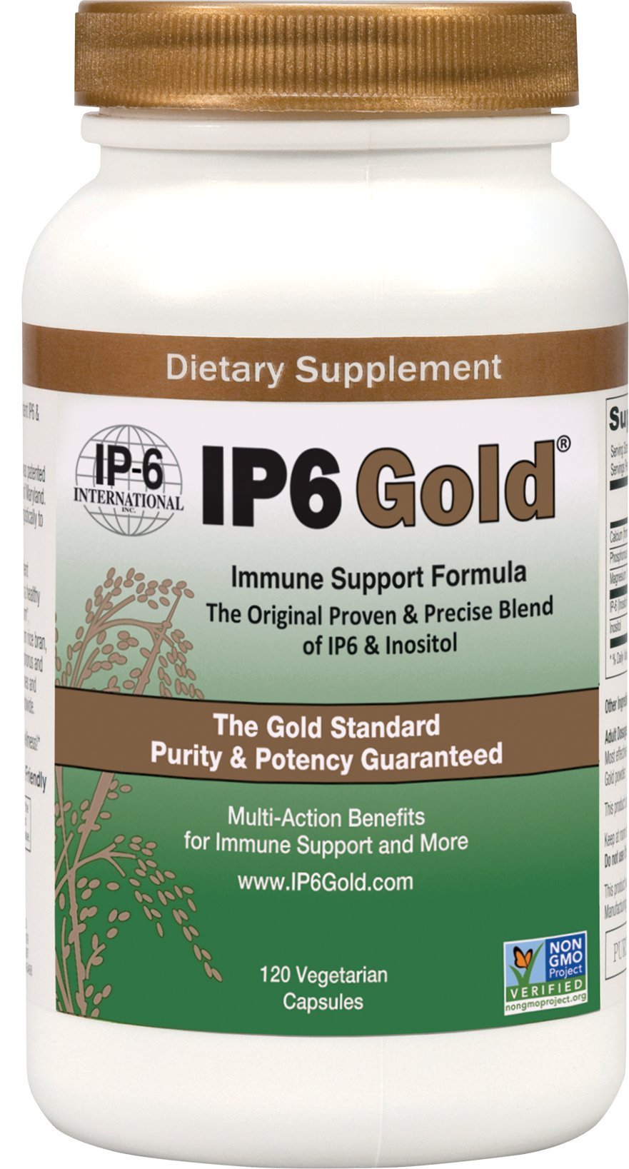 IP-6 International IP6 Gold Immune Support Formula 120 Vegetarian Capsules