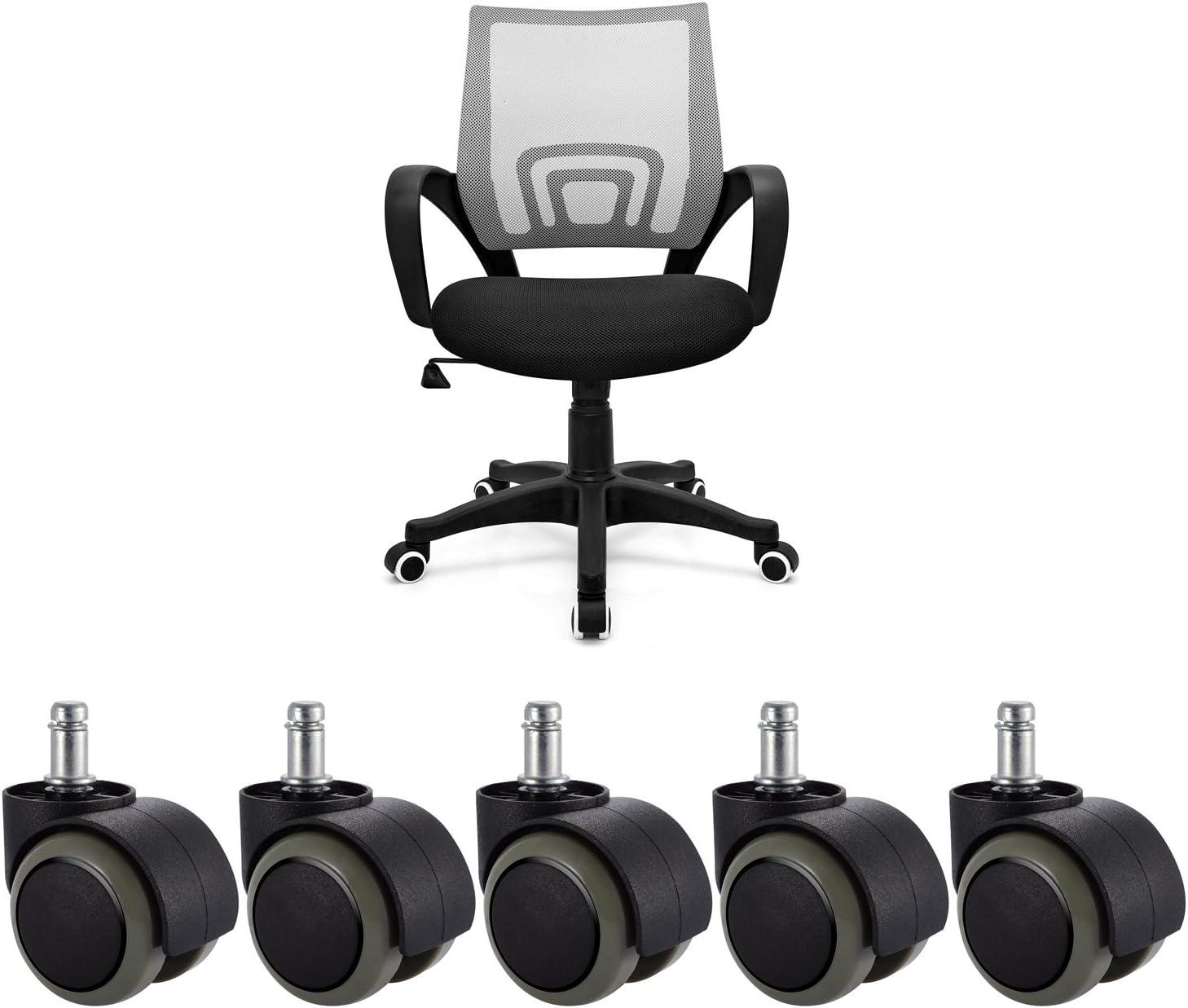 ,Supportando Fino a 250kg Z/·Bling Ruote Sedie da Ufficio per Parquet,Universale Standard 11mm x 22mm 7//16 X 7//8