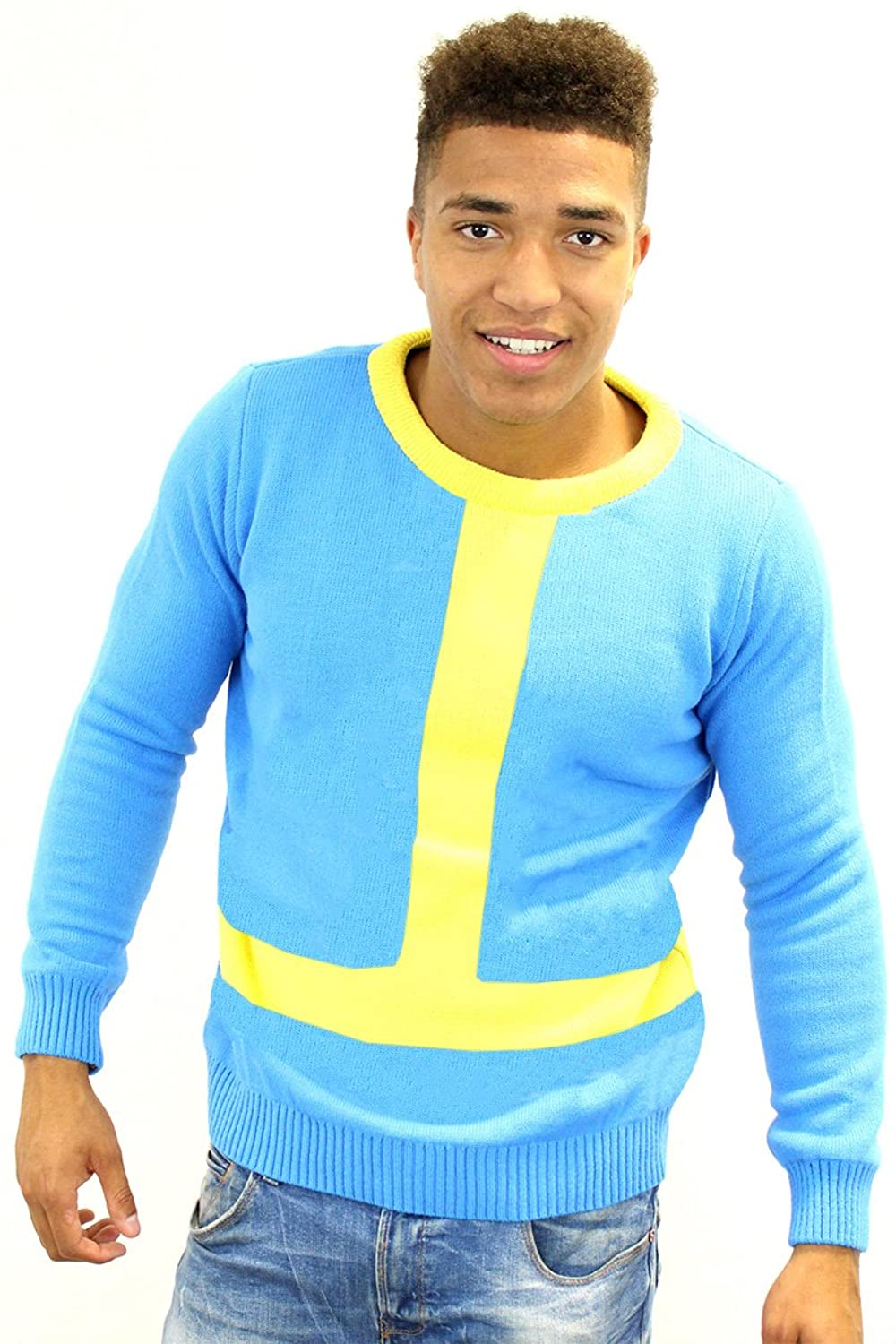 Amazon.com: Official Vault Boy Fallout Jumper / Sweater: Clothing