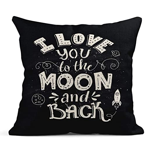 Kinhevao Cojín Te Amo a la Luna y la Espalda Tipográfico ...