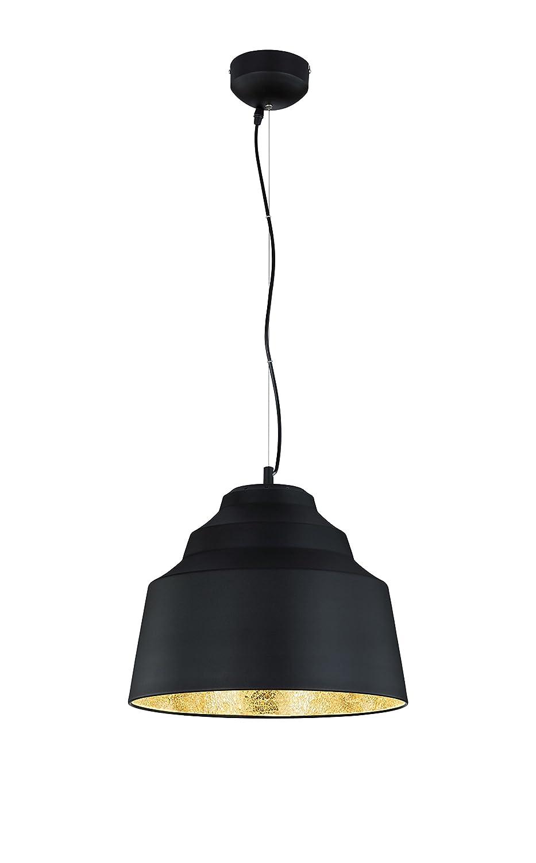 Trio Leuchten LED Naples Pendelleuchte, Metall, SMD, 4.5 W, Schwarz goldfarbig