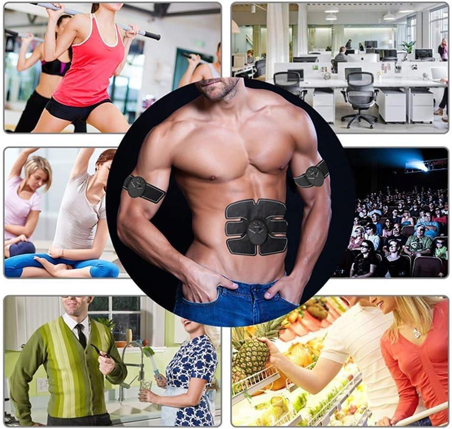 WWMH Electroestimulador Muscular Abdominales Fitness Abdominal Muscle Trainer Fitness Training Gear Adelgazar Fitness para Abdomen Cintura Pierna Brazo