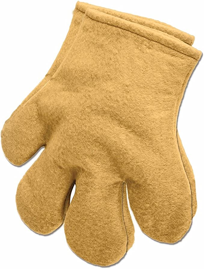Yellow Large Unisex Adult Four Finger Gloves Cartoon Costume Hands