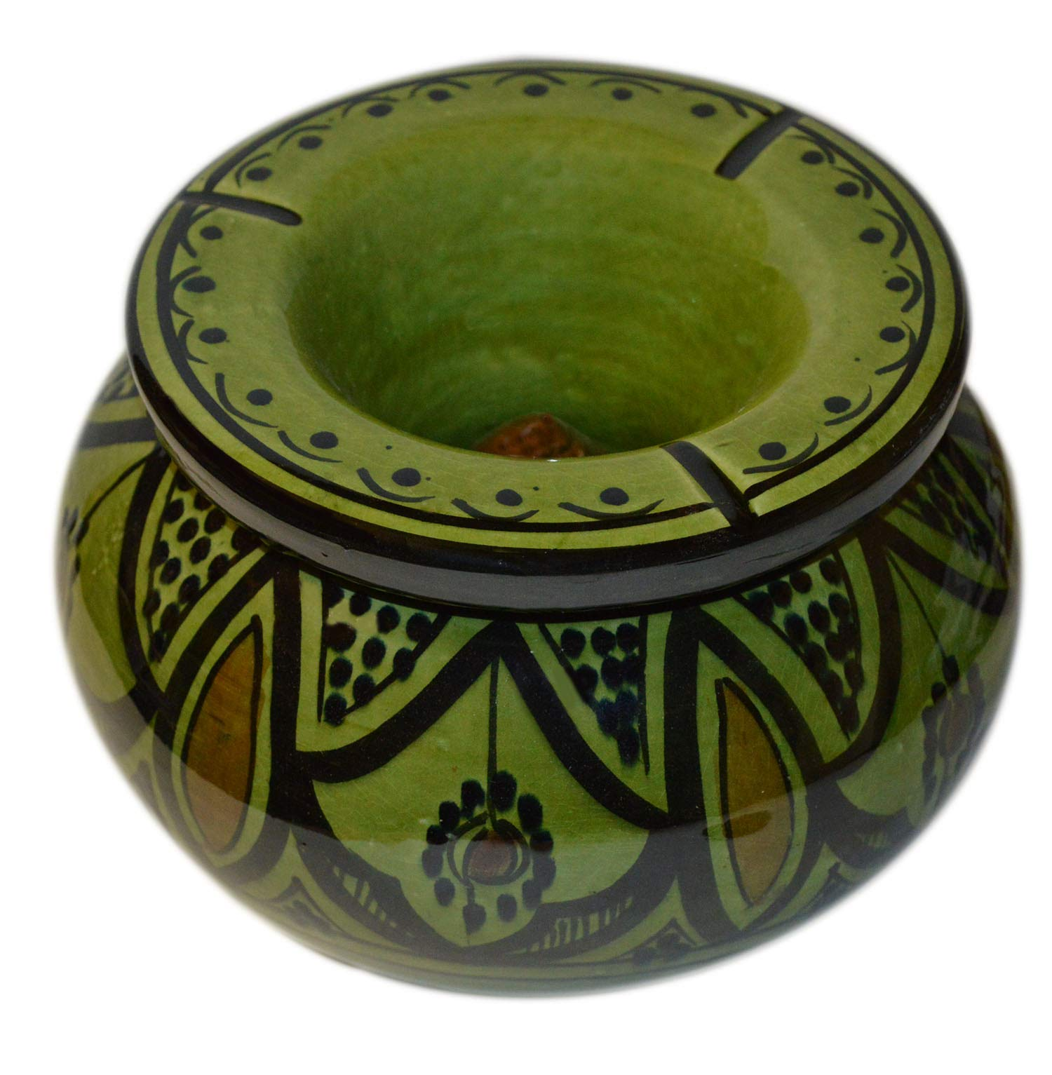 Moroccan Handmade Ceramic Ashtrays Smokeless Cigar Exquisite Design with vivid Colors X-Large