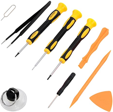 Repair Kit with Tools for All iPhone (4-XS Max), Samsung Galaxy, Note -  Magnetic Screwdriver Tool Set for Cell Phones and Mobile Devices - Fix  iPhone