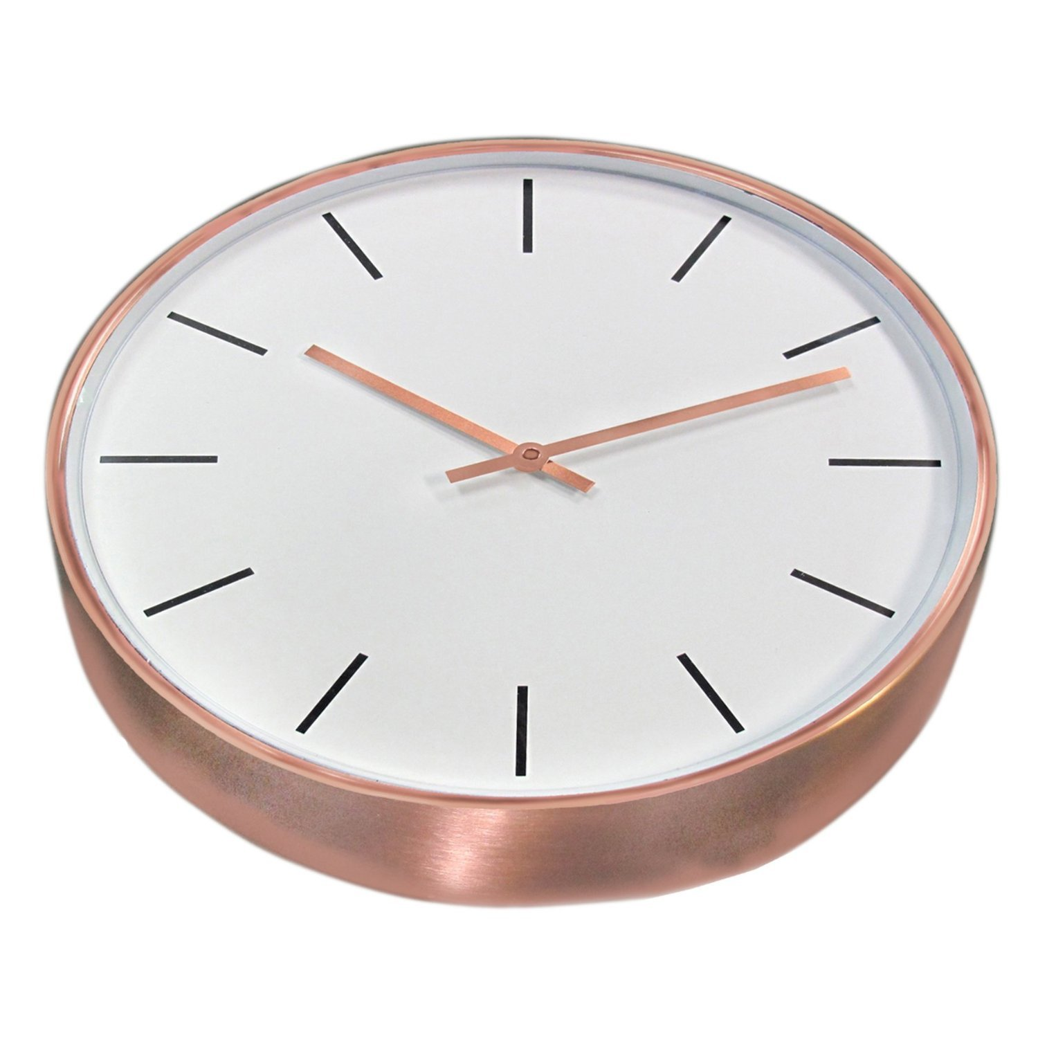Amazon 15 genuine brushed copper wall clock with copper amazon 15 genuine brushed copper wall clock with copper hands and glass face home improvement amipublicfo Choice Image