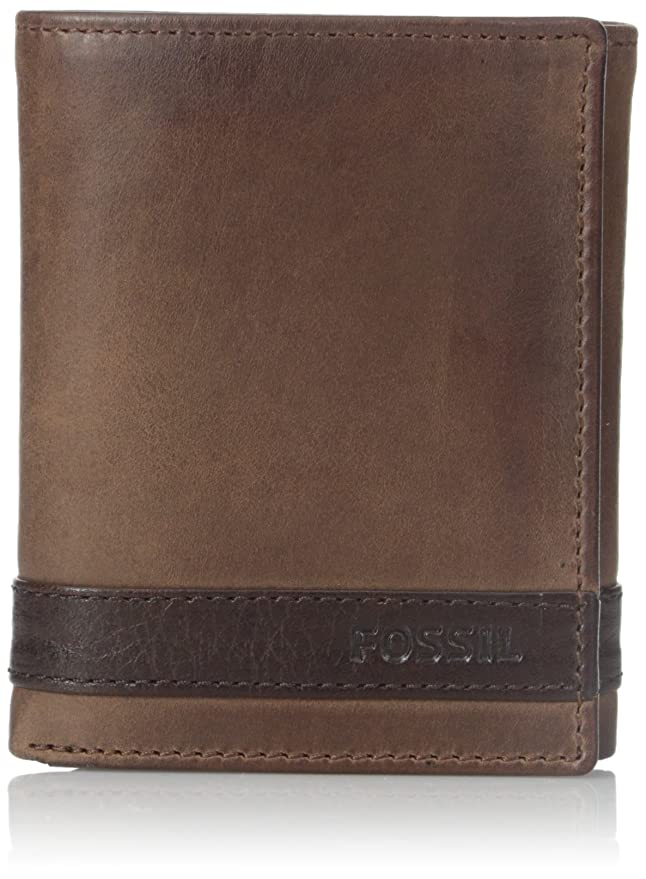 Fossil Trifold Wallet at Amazon Men\'s Clothing store: