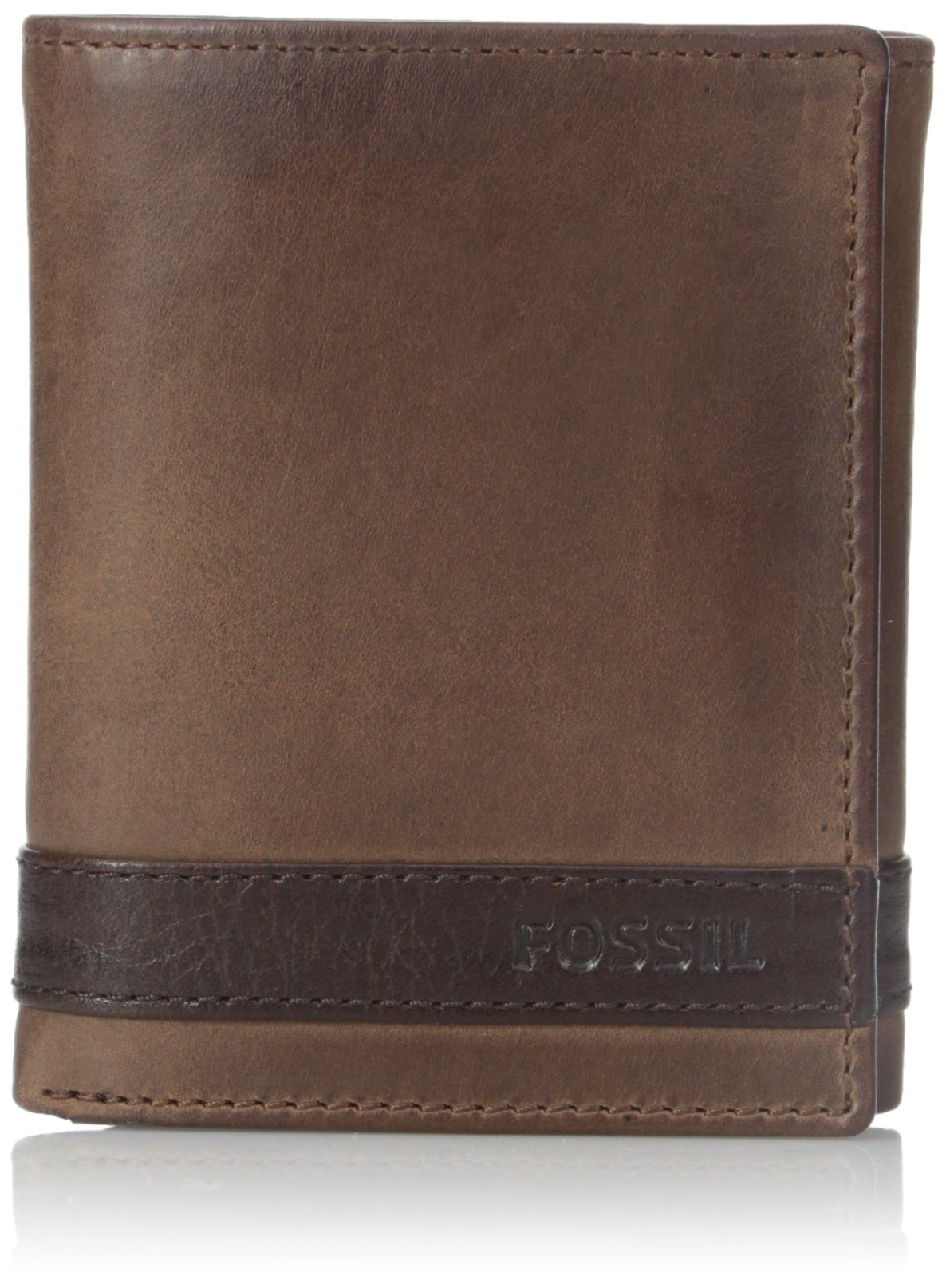Fossil Men's Leather RFID BlockingTrifold Wallet