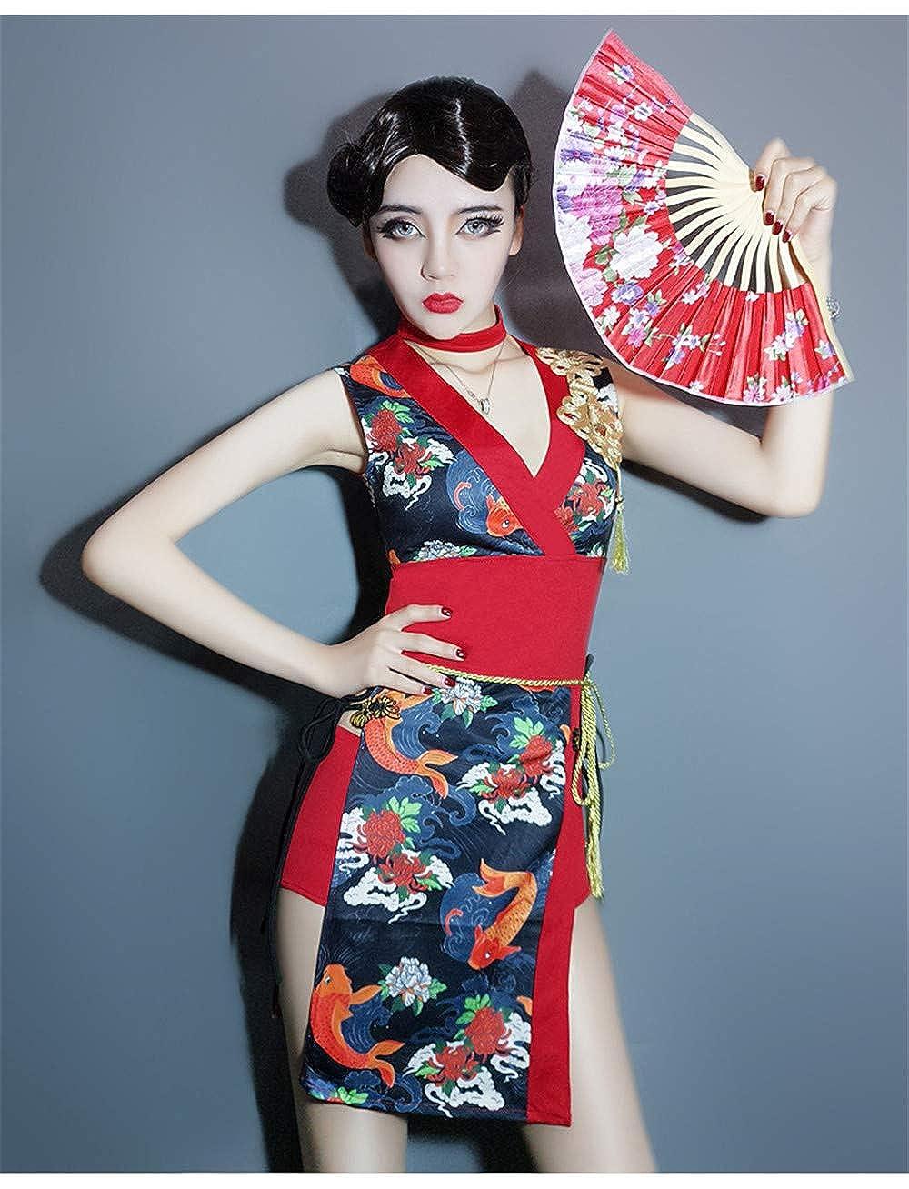 Amazon.com: COSMUSE Japanese Geisha Kimono Dress Ninja ...