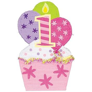 Muffin de Piñata XXL 1. Niños Cumpleaños Niña en color rosa ...