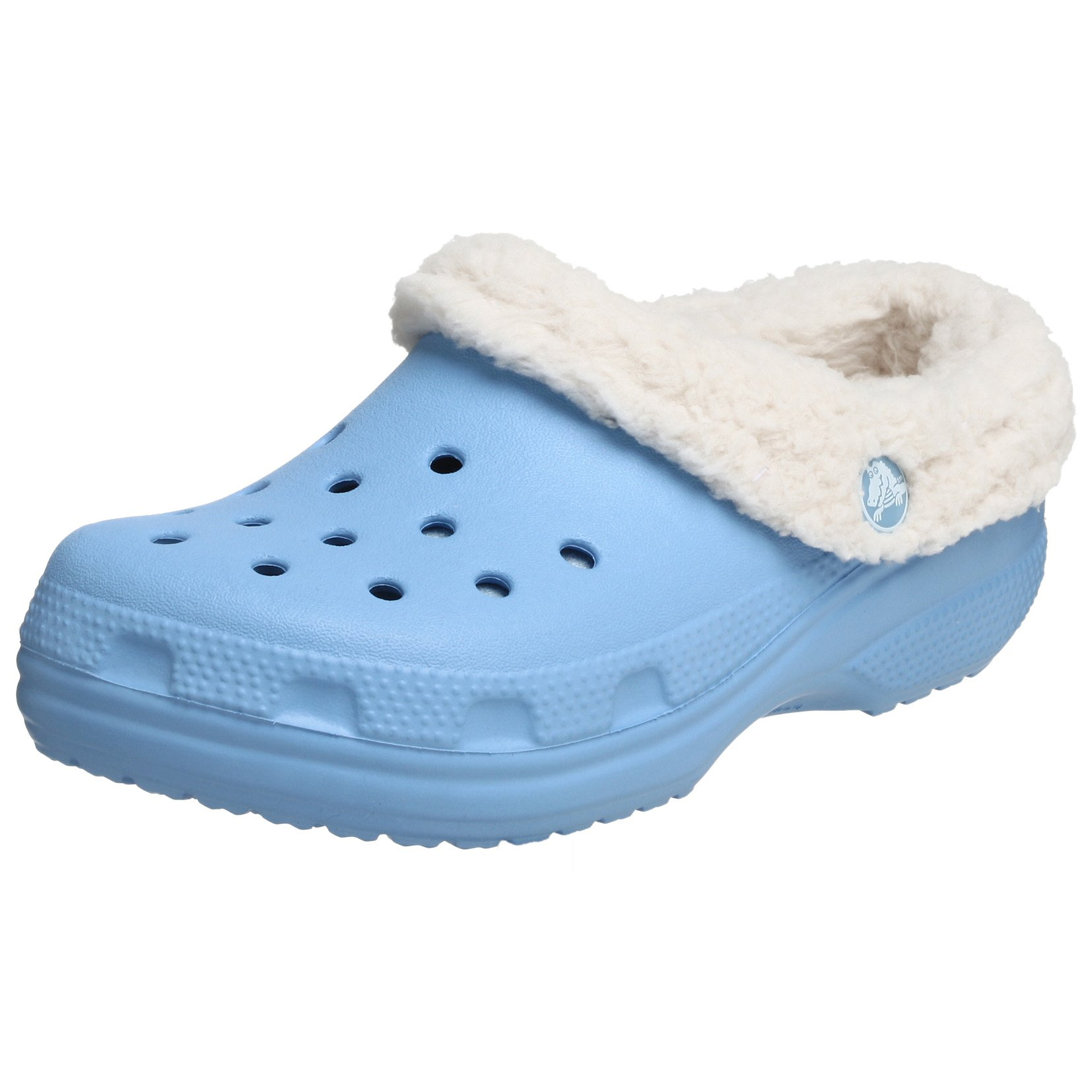Crocs Mammoth Shearling Clog (Toddler/Little Kid),Light Blue/Oatmeal,6-7 M US Toddler
