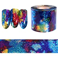 Niome 1 Roll Nail Art Starry Sky Nail Foil Sticker Blue Holographic Paper Decor Manicure Decals