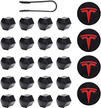 Aero Wheel Center Caps Kit For Tesla Model 3 4 Hub Center Cap S /& X 20 Lug Nut Cover