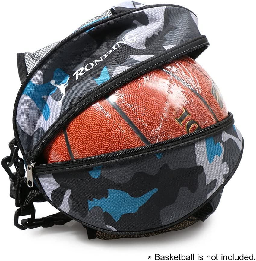 Lixada Sports Ball Round Bag Basketball Shoulder Bag Soccer Ball Football Volleyball Carrying Bag Travel Bag for Men and Women