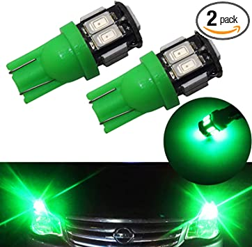 YaaGoo License License Plate Lights Lamp,T10 168 194 2825 W5W,Red,2pcs
