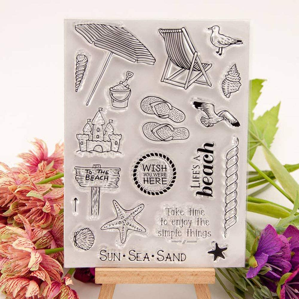 4.3 by 6.3 Inches Happy Birthday Enioy Your Special Day Clear Stamps Blessing Words for Card Making Scrapbooking Christmas Stamps
