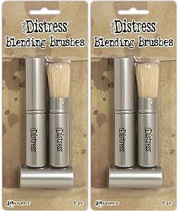 Tim Holtz Distress Blending Brushes - Two Packages - 4 Brush Bundle (Original Version)