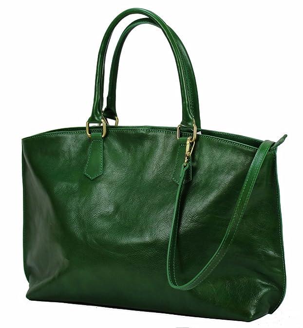 18055cf14eeba BZNA Bag Ina Grün verde Italy Business Luxus Büro Designer Ledertasche City  Damen Aktentasche Handtasche Schultertasche Tasche Leder Shopper DIN A4  Neu  ...