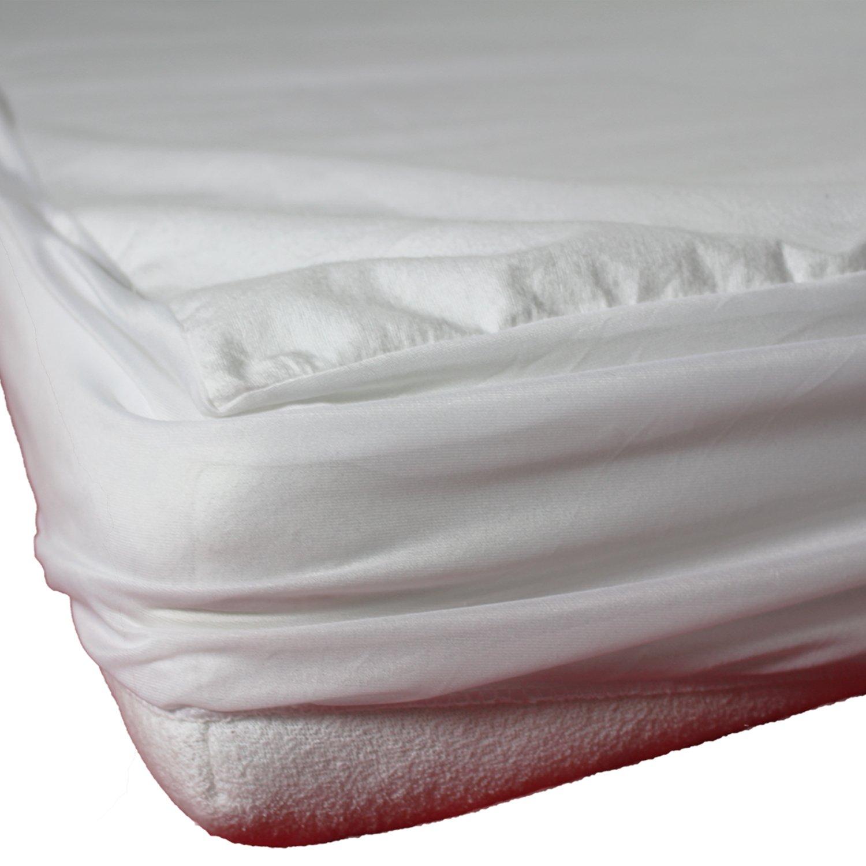 con goma el/ástica en todo el per/ímetro parecido a una s/ábana bajera 180x200 lavable hasta 95/°C en 11 medidas sinnlein/® Protector de colch/ón impermeable hecho de 100/% algod/ón absorbente por el tejido de rizo