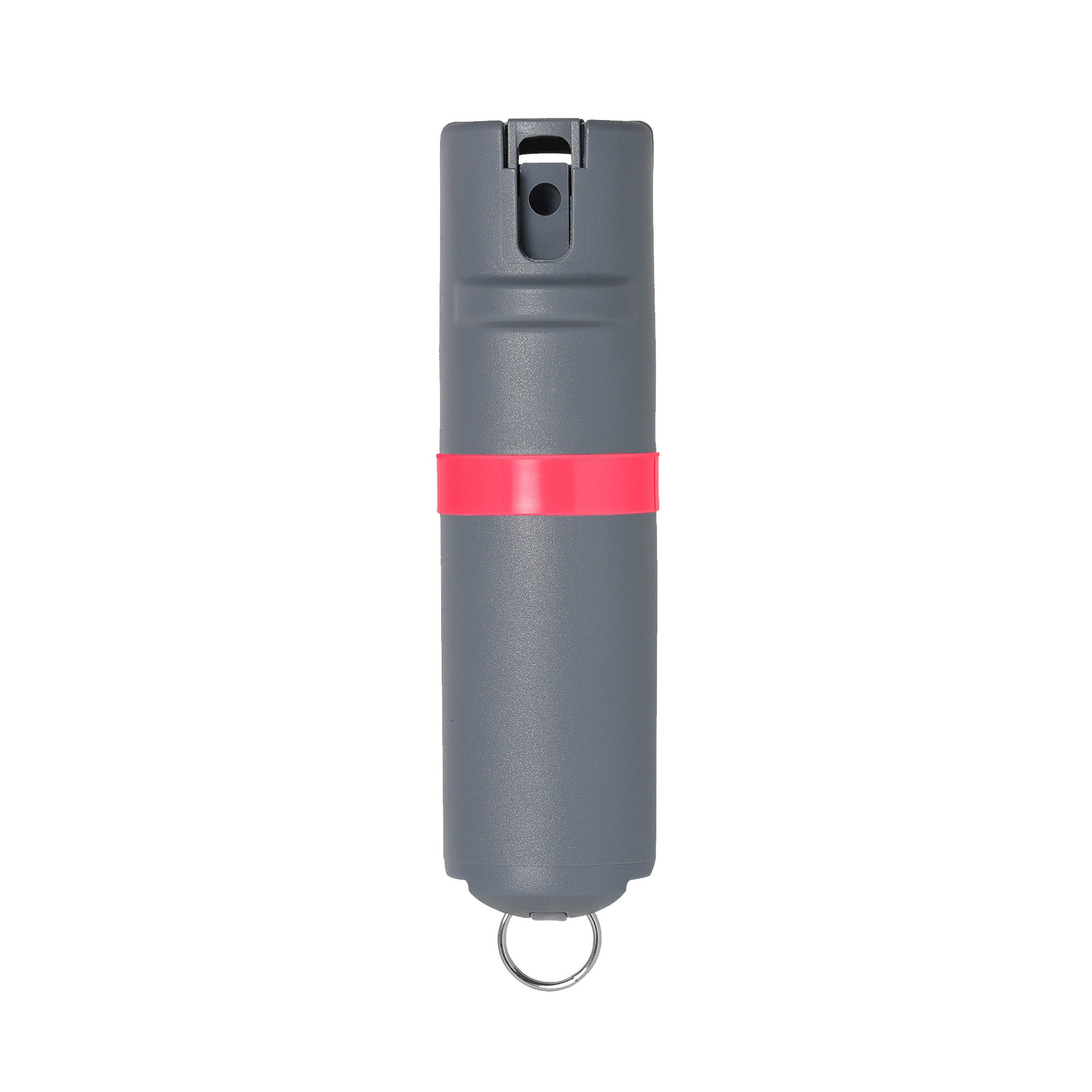 POM Grey Pepper Spray Keychain Model - Maximum Strength Self Defense OC Spray Safety Flip Top 10ft Range Compact Discreet for Keys Backpack Quick Key Release (Pink) by POM