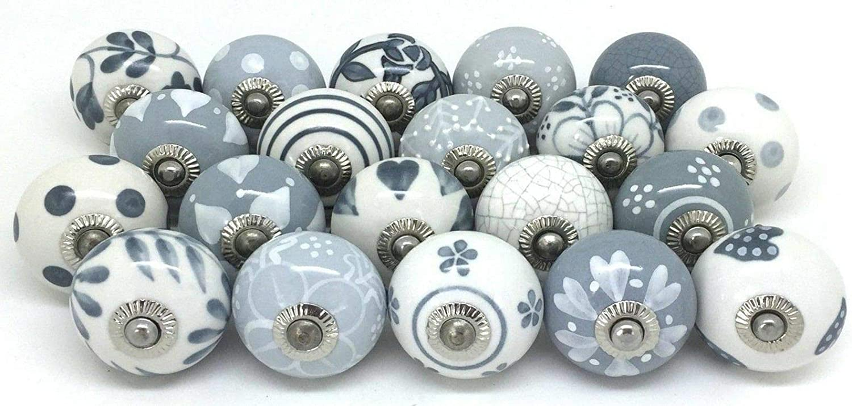 door knobs drawer pulls. Metal and Ceramic \u201cPULL\u201d cupboard handles Pack of 6