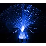 "Fibre Optic Ice Crystal Lamp - 13.5"" - The Glowhouse Brand (Blue)"