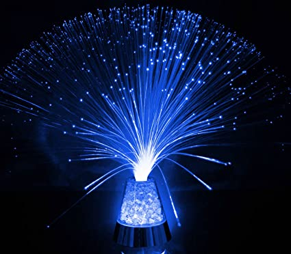 Fibre Optic Ice Crystal Lamp 13 5 The Glowhouse Brand Blue